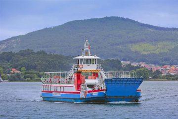 Ferry ou ferryboat de caminha volta a circular no rio Minho até a La Guarda, Espanha